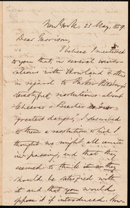 Letter from Oliver Johnson, New York, [N.Y.], to William Lloyd Garrison, 23 May, 1859