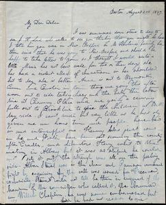 Letter from Lucia Weston, Boston, [Mass.], to Deborah Weston, August 3rd, 1839