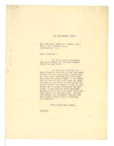 Letter from Crisis to Mr. & Mrs. James C. Waters, Jr.