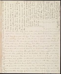 Letter from Deborah Weston, New Bedford, [Mass.], to Mary Weston, Nov. 6, 1836, Sunday evening after 9