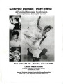 Katherine Dunham (1909-2006): A Familial Memorial Celebration (program)