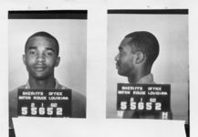 Mississippi State Sovereignty Commission photograph of Dion Tyrone Diamond following his arrest in Baton Rouge, Louisiana, 1962 February 1