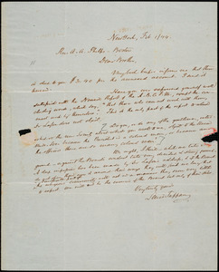 Letter from Lewis Tappan, New York, to Amos Augustus Phelps, 1844 February 1