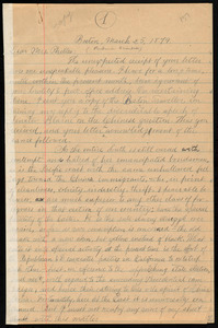 Letter from William Lloyd Garrison, Boston, [Mass.], to Prudence Crandall, March 25, 1879