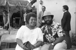 Man and woman at Press Club event, Los Angeles, 1983