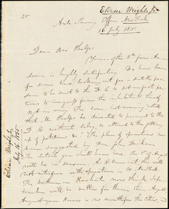 Letter from Elizur Wright, New York, to Amos Augustus Phelps, 1835 July 16