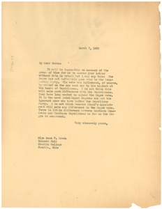 Letter from W. E. B. Du Bois to Anna V. Brown