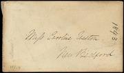Envelope to Miss Caroline Weston] [manuscript