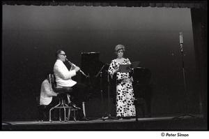 Joanna Simon performing with Benny Goodman