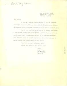 Letter from Ethel Ray Nance to W. E. B. Du Bois