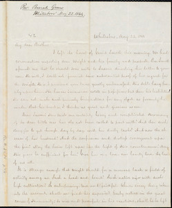 Letter from Beriah Green, Whitesboro, to Amos Augustus Phelps, May 22. 1844