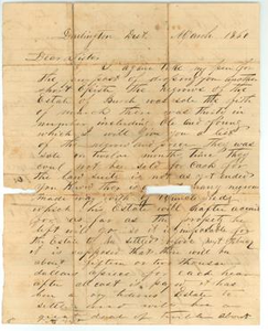 Letter from Edward S. Burch to his sister, Sarah Zimmerman, March 1860