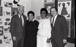 California African American Museum event participants in a group portrait, Los Angeles, 1986