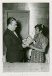 Art - Sculpture - Harp (Augusta Savage) - Augusta Savage presenting model to Grover Whalen