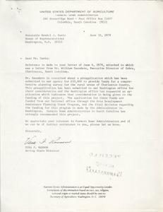 Letter from Vera F. Ransom to Mendel J. Davis, June 12, 1979