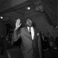 Representative Robert G. Clark in Jackson, Mississippi, the first African American to serve in the Mississippi House of Representatives since Reconstruction.