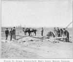 Pulling up stumps; Hoffman-Saint Mary's School; Keeling, Tennessee