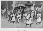 The Sultan of Morocco on his way to worship in the Kutubia mosque in his capital at Fez