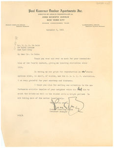 Letter from Roscoe Conkling Bruce to W. E. B. Du Bois
