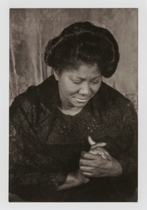 "Mahalia Jackson, from the unrealized portfolio ""Noble Black Women: The Harlem Renaissance and After"""