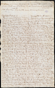 Letter from Elizabeth Pease Nichol, Darlington, [England], to William Lloyd Garrison, May 2. 1841