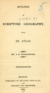 Outlines of Scripture geography, : with an atlas.