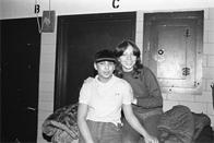 Thumbnail for Dita and an unidentified girl, South Bronx High School, 1980