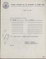 Travel Reimbursement, August 12, 1966