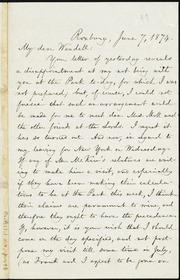 Letter to] Wendell Phillips Garrison [manuscript