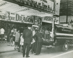 "CORE demonstrators being arrested outside segregated movie theater showing ""Goliath and the Dragon,"" at unidentified location, ca. 1960"