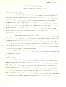 Memorandum from W. E. B. Du Bois to Vito Marcantonio