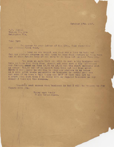 Letter: Macon, Georgia to R. E. Norman, Arlington, Florida, 1927 Oct. 17