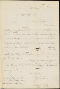 Letter from Arthur Tappan, New Haven, [Connecticut], to William Lloyd Garrison, 1863 Nov[ember] 17