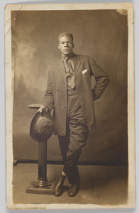 Photographic postcard of Mr. Robinson