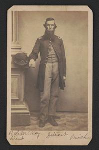 [Lieutenant Robert G. McKay of Co. H, 1st Michigan Cavalry Regiment in uniform]