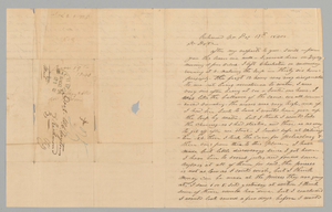 Letter to M. C. Taylor from T. Heatherly regarding the slave trade