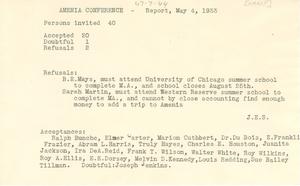 Amenia Conference attendance report