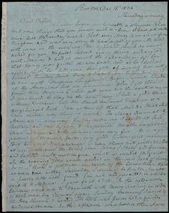 Letter from Anne Warren Weston, Boston, to Deborah Weston, Dec.15, 1836, Thursday evening