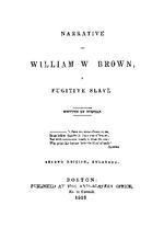 Narrative of William W. Brown, a fugitive slave
