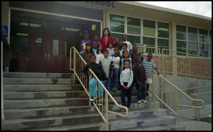 Gates Elementary Students and Teacher on School Steps San Antonio Chapter of Links Records