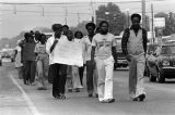 Demonstrators on a march from Decatur to Cullman, Alabama, to protest the upcoming trial of Tommy Lee Hines.