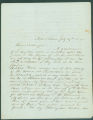 Letter from James H. Fisher, near Selma, Alabama, to Benjamin Hale, at Geneva College in New York.