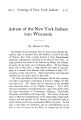 Advent of the New York Indians into Wisconsin