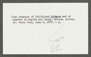 Baffinland Eskimos, Negroes in Angola and Lunda, Africa