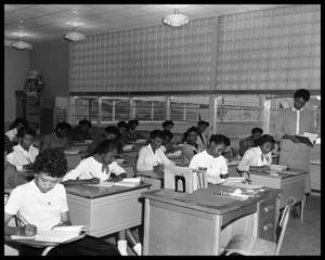 A Class of Students Sits During a Test