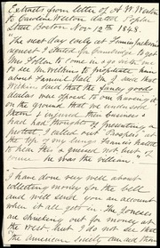 Extracts from letter of A.W. Weston to Caroline Weston [manuscript]
