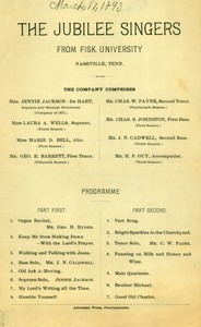 The Jubilee Singers ( March 17, 1893)