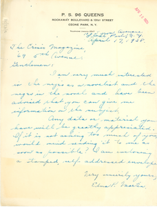 Letter from Edna P. Martin to The Crisis