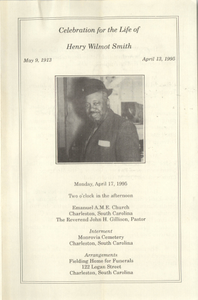 Program, Celebration for the Life of Henry Wilmot Smith