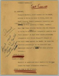 News Script: Thurgood Marshall NBC News Scripts